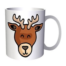 Deer Smiley Animal Zoo 11oz Mug o538 - $10.83
