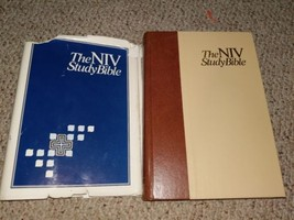 ZONDERVAN NIV STUDY BIBLE BURGUNDY LEATHER 2002 PRINTING NEW INTERNATION... - $14.65