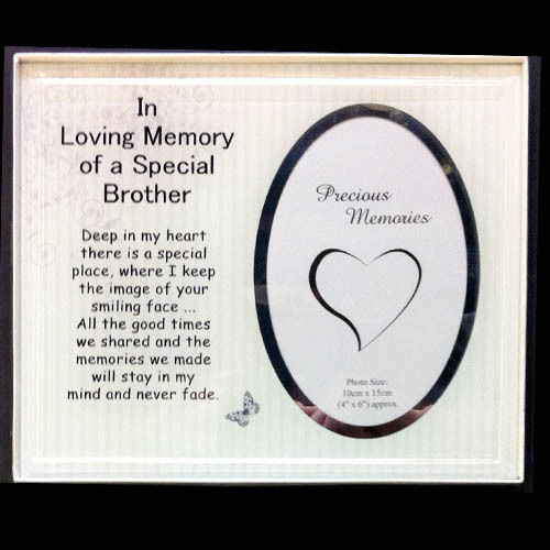 Bnib Glass Memorial Frames , Brother , and 50 similar items