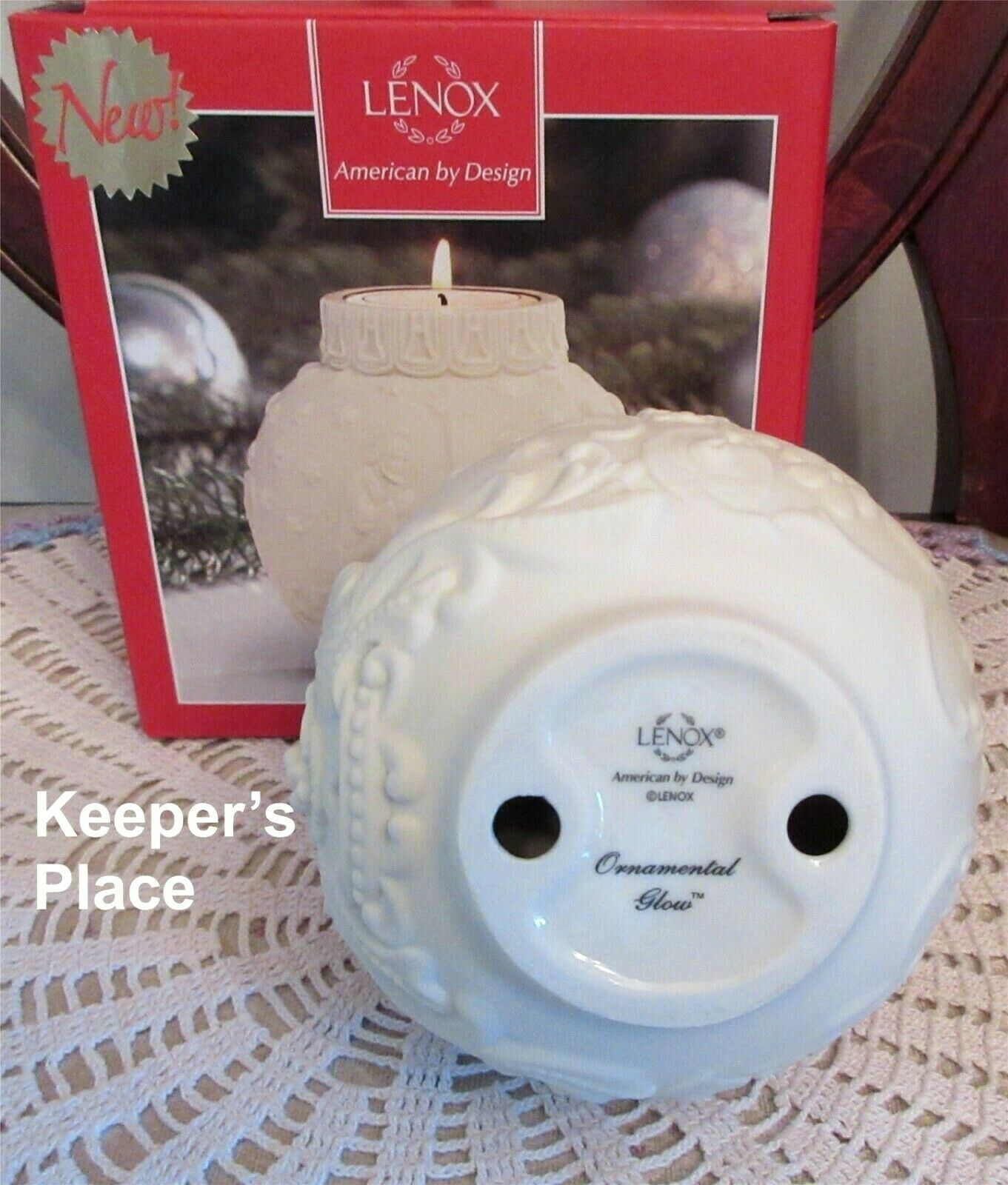 Lenox Ornamental Glow Nativity Votive Candle Holder Cream Gold Brand New