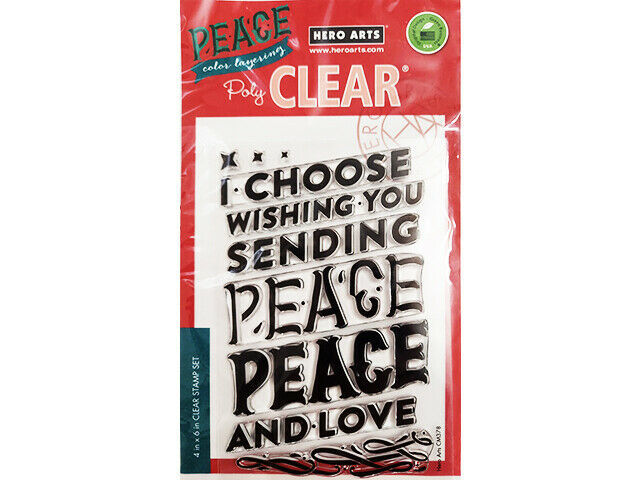 Hero Arts Peace Color Layering Clear Stamp Set #CM378