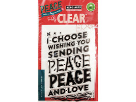 Hero Arts Peace Color Layering Clear Stamp Set #CM378 - $13.99