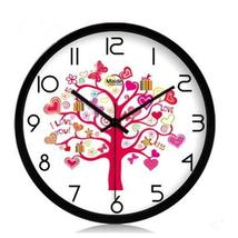 (Love Tree) 10-inch Silent fashion Art Pastoral Round Wall Clock,BLACK (NO.229) - $44.47