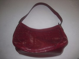 Liz Claiborne Dark Red Shoulder Bag Faux LEATHER-BARELY USED-MEDIUM - $8.95