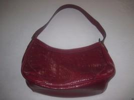 Liz Claiborne Dark Red Shoulder Bag Faux LEATHER-BARELY USED-MEDIUM - $6.99
