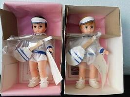 "(2) Brunette & Blond TENNIS BOYS  8"" Dolls  Madame Alexander Sports Collection - $38.61"