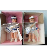 "(2) Brunette & Blond TENNIS BOYS  8"" Dolls  Madame Alexander Sports Collection - $38.61"