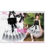 Halter Style Party Prom Dress with Self-Tied Bow at Waist  - $10.00