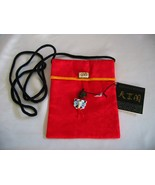 ELEGANT COLLECTIBLE Japanese art RED Embroidery Fine Silk handbag /strap... - $9.99