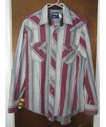 Men's Wrangler Western Pearl Snap Shirt Large Heavy - $15.99
