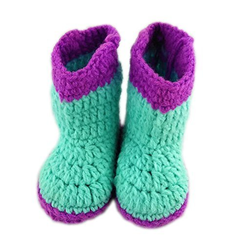 Baby Infant Handmade Crochet Shoes Knit Warm Sock Newborn Gift 10-12CM