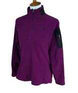North Face Women's 1/4 Zip Mock Neck Lightweight Fleece Purple Jacket Me... - $18.80