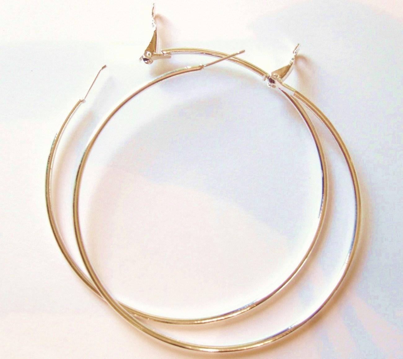 Ea83 jumbo gold hoop 9cm 3.5 in