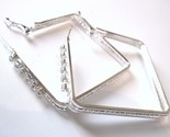 Ea88 cz square silver hoop 2.5 in thumb155 crop