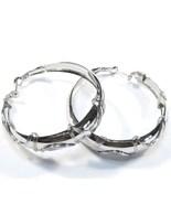 Twisted Wire Silver Hoop Earrings EA98 - $4.99