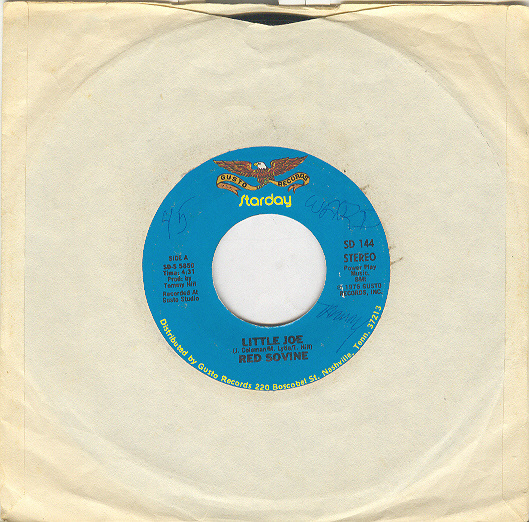 RED SOVINE 45 rpm Little Joe b/w Cold Love To Go
