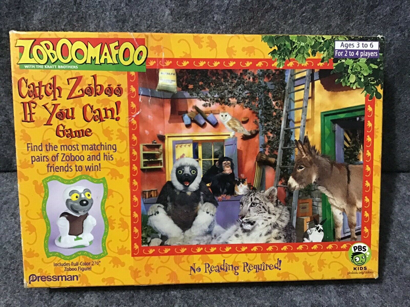 Primary image for Pressman 2000 Zoboomafoo Catch Zooboo If You Can Memory Pair Card Game HTF Rare