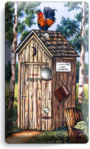 Country Rustic Outhouse Farm French Rooster Light Dimmer Cable Wall Plates Decor - $9.89