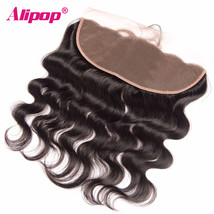 ALIPOP Brazilian Lace Frontal Closure Pre Plucked With Baby Hair Remy Bo... - $164.14