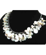Necklace Sea Shell Pearl and Mother of Pearl White  - $12.99