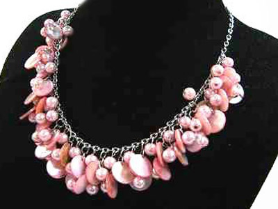 Necklace Sea Shell Pearl and Mother of Pearl White