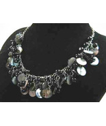 Necklace Sea Shell Pearl and Mother of Pearl Black - $12.99