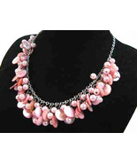 Necklace Sea Shell Pearl and Mother of Pearl Pink - $12.99
