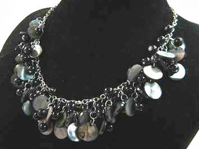 Necklace Sea Shell Pearl and Mother of Pearl Pink