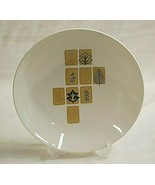 """Mosaic Harmony House China 7-3/4"""" Cereal Bowl Brown Squares Leaves & Flo... - $14.84"""