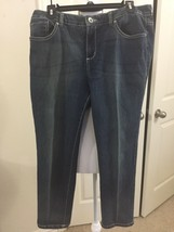 Women NINE WEST  Sz 12 denim cropped Ankle jeans dark wash low-rise #B4 - $10.00