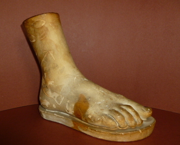 Vintage Anatomical Plaster Model of a Foot Neo Classic Artist Model 1920-1930's