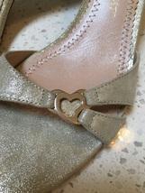 FRENCH designer JEAN-MICHEL CAZABAT 37/6 Heels Gold/Beige Leather NEW
