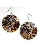 """2"""" Animal Print Dangle Shell Earrings EA145 - $4.99"""