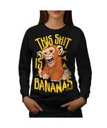Banana Monkey Wild Animal Jumper  Women Sweatshirt - $18.99