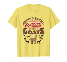 Goat Mom T-Shirt Funny Mothers Day Gifts Behind Good Woman - $17.99+