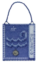 Aquarius Zodiac 2018 Charmed Ornament series cross stitch kit Mill Hil - $7.20