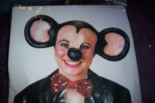 Halloween Costume Mouse Head Piece Ears NEW Nose