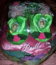 Disney Fairies Tinker Bell Prilla Play Shoes NEW Green Pink Silver Accen... - $10.00