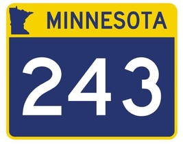 Minnesota State Highway 243 Sticker Decal R4991 Highway Route sign  - $1.45+