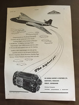 Vintage May 1953 Sir George Godfrey & Partners Ltd Original Flugzeug Wer... - $1.25