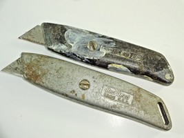 (2) Vintage Utility Work Knives: Stanley 299 & Red Devil 3204 Made in th... - $14.58