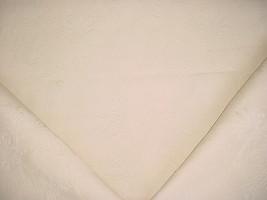 3-1/2Y SCHUMACHER CREAM WHITE FLORAL MATELASSE DRAPERY UPHOLSTERY FABRIC - $66.53
