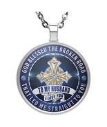 Inspirational To My Husband Necklace Pendant - Cross God Blessed Our Lov... - $24.70