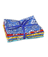 Paisley Bandana FQs Bundle, quilting cotton qui... - $9.99