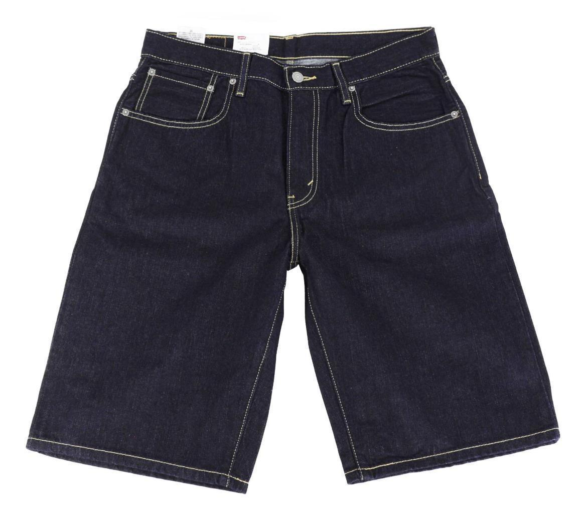 BRAND NEW LEVI'S 569 MEN'S COTTON SHORTS ORIGINAL RELAXED FIT BLUE 355690063