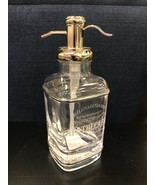 (1) Dr.H.Gnadendorff Apothecary Glass Silver Soap Pump Dispenser ~New~ - $39.99