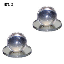 Clear Acrylic Small Ball Stick-On Mirror Knobs - Pack of 2 - $26.95