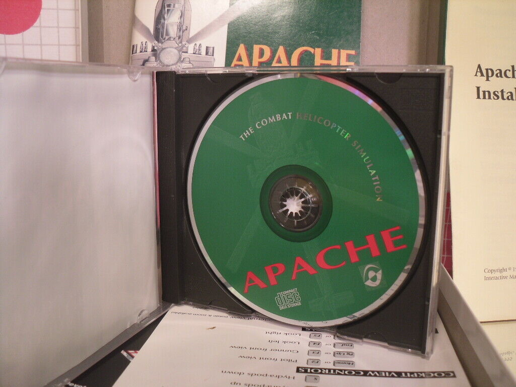 Apache The Combat Helicopter Simulator (PC CD) Big Box Dos Game