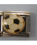 SOCCER BALL 9mm Charm Italian Charm Bracelet - $5.99