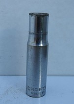 """Vintage 3/8"""" Craftsman Deepwell Socket, V Series, Deep Socket 3/8"""" Drive, 6pt - $10.49"""
